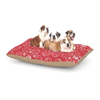 Heidi Jennnings Christmas Spirit Dog Pillow with Fleece Cozy Top Size: Large (50 W x 40 D x 8 H)