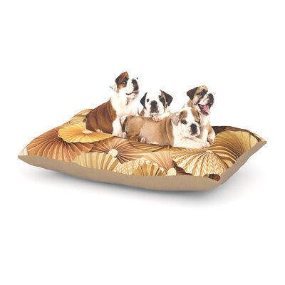 Heidi Jennings Caramel Latte Dog Pillow with Fleece Cozy Top Size: Large (50 W x 40 D x 8 H)