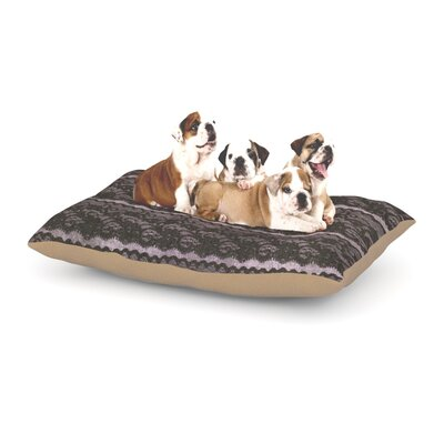 Heidi Jennings Black Lace Dog Pillow with Fleece Cozy Top Size: Large (50 W x 40 D x 8 H)