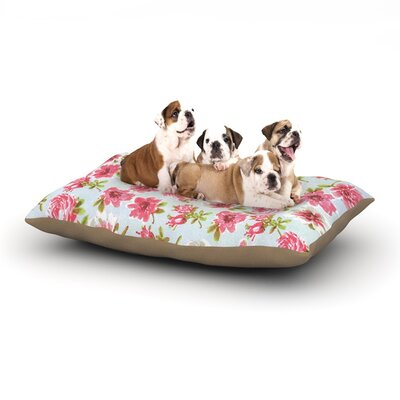Heidi Jennings Petals Forever Dog Pillow with Fleece Cozy Top Size: Small (40 W x 30 D x 8 H)