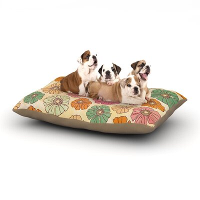 Heidi Jennings Vintage Petals Dog Pillow with Fleece Cozy Top Size: Large (50 W x 40 D x 8 H)