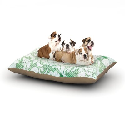 Heidi Jennings Daydreaming Floral Dog Pillow with Fleece Cozy Top Size: Small (40 W x 30 D x 8 H)