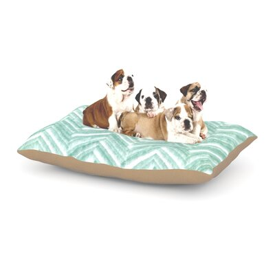 Heidi Jennings Painted Chevron Dog Pillow with Fleece Cozy Top Size: Small (40 W x 30 D x 8 H)