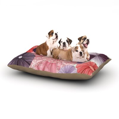 Heidi Jennings The Royal Court Dog Pillow with Fleece Cozy Top Size: Large (50 W x 40 D x 8 H)