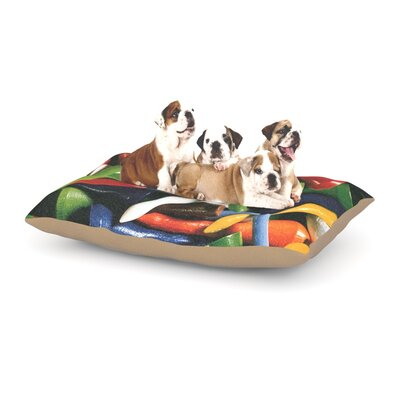 Heidi Jennings Teed Off Dog Pillow with Fleece Cozy Top Size: Large (50 W x 40 D x 8 H)