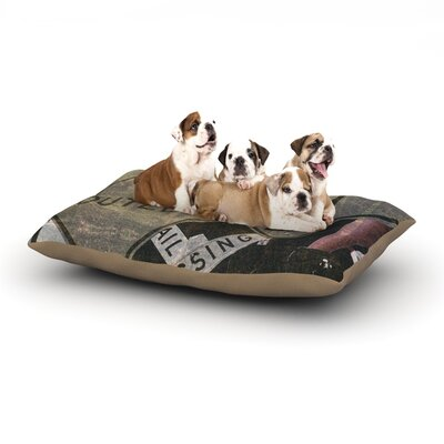 Heidi Jennings City Outing Urban Signs Dog Pillow with Fleece Cozy Top Size: Large (50 W x 40 D x 8 H)