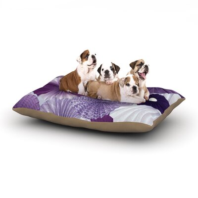 Heidi Jennings Lavender Wishes Dog Pillow with Fleece Cozy Top Size: Large (50 W x 40 D x 8 H)