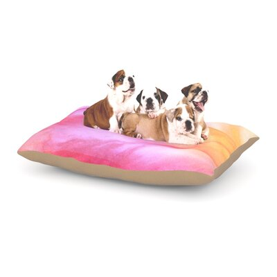 Heidi Jennings Pastel Haze Dog Pillow with Fleece Cozy Top Size: Large (50 W x 40 D x 8 H)