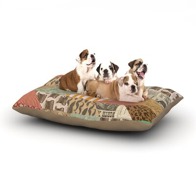 Heidi Jennings Hodge Podge Texture Dog Pillow with Fleece Cozy Top Size: Large (50 W x 40 D x 8 H)