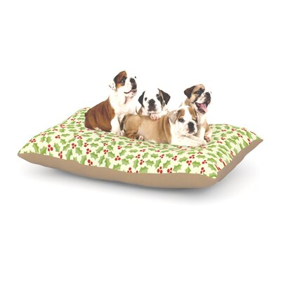 Heidi Jennnings Oh Holly Night Dog Pillow with Fleece Cozy Top Size: Small (40 W x 30 D x 8 H)