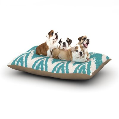 Heidi Jennings Tribal Chevron Dog Pillow with Fleece Cozy Top Size: Large (50 W x 40 D x 8 H), Color: Aqua