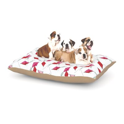 Heidi Jennings Go Fly a Kite Dog Pillow with Fleece Cozy Top Size: Small (40 W x 30 D x 8 H)