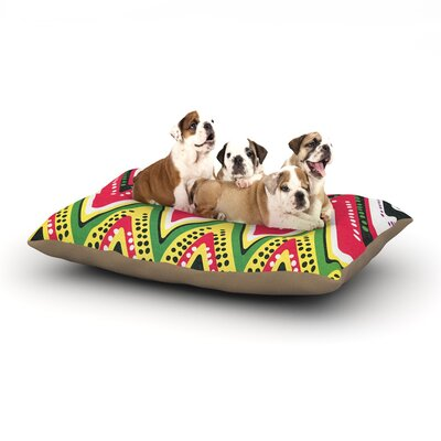 Heidi Jennings Jamaican Me Crazy Dog Pillow with Fleece Cozy Top Size: Large (50 W x 40 D x 8 H)