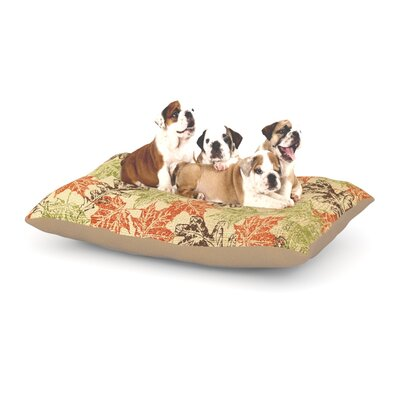 Heidi Jennings Leaf it to Me Dog Pillow with Fleece Cozy Top Size: Large (50 W x 40 D x 8 H)