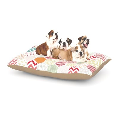 Heidi Jennings Geo Pastel Geometric Dog Pillow with Fleece Cozy Top Size: Small (40 W x 30 D x 8 H)