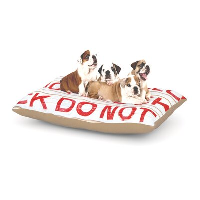 Heidi Jennings Do Not Bloack Dog Pillow with Fleece Cozy Top Size: Large (50 W x 40 D x 8 H)