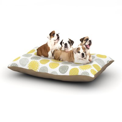 Heidi Jennings Sunspot Spots Dog Pillow with Fleece Cozy Top Size: Small (40 W x 30 D x 8 H)
