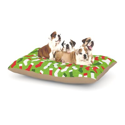 Heidi Jennnings Stocking Season Dog Pillow with Fleece Cozy Top Size: Large (50 W x 40 D x 8 H)