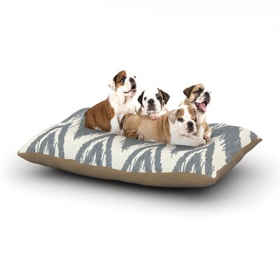 Heidi Jennings Tribal Chevron Dog Pillow with Fleece Cozy Top Color: Gray, Size: Large (50 W x 40 D x 8 H)