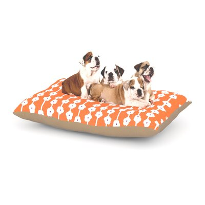Heidi Jennings Orange You Cute Dog Pillow with Fleece Cozy Top Size: Large (50 W x 40 D x 8 H)