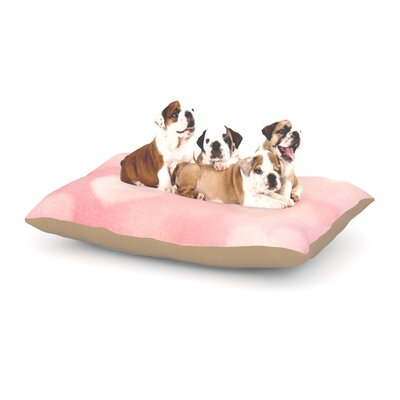 Heidi Jennings Love is in the Air Dog Pillow with Fleece Cozy Top Size: Small (40 W x 30 D x 8 H)