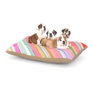 Heidi Jennings Pastel Stripes Dog Pillow with Fleece Cozy Top Size: Large (50 W x 40 D x 8 H)