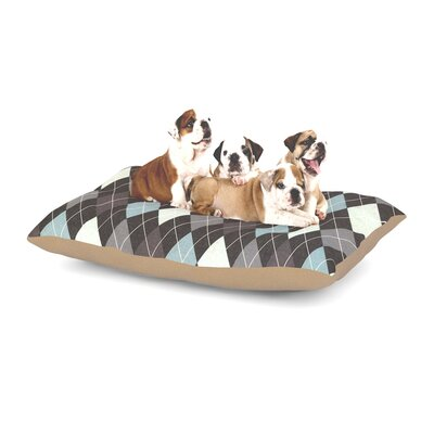 Heidi Jennings Argyle Dog Pillow with Fleece Cozy Top Size: Small (40 W x 30 D x 8 H)
