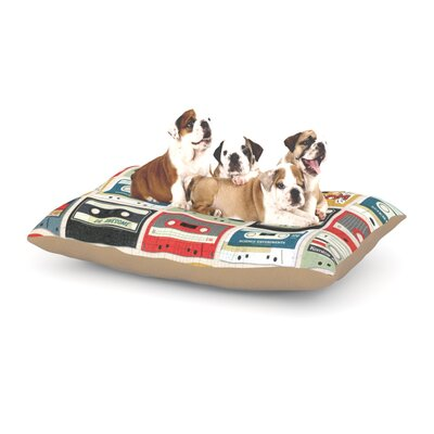Heidi Jennings Retro Tape Dog Pillow with Fleece Cozy Top Size: Small (40 W x 30 D x 8 H)