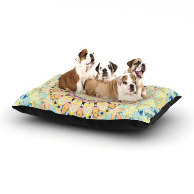Iris Lehnhardt Flourish Circle Dog Pillow with Fleece Cozy Top Size: Small (40 W x 30 D x 8 H)