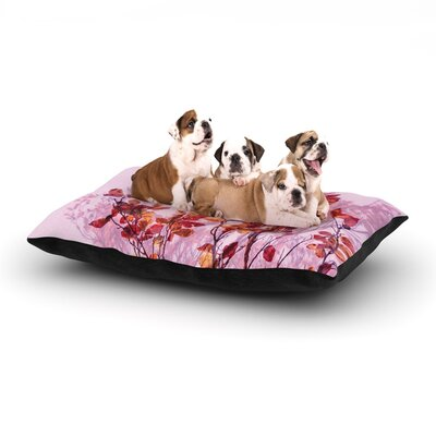 Iris Lehnhardt Autumn Symphony Dog Pillow with Fleece Cozy Top Size: Large (50 W x 40 D x 8 H)