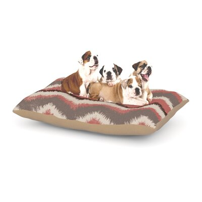 Heidi Jennings Fuzzy Chevron Dog Pillow with Fleece Cozy Top Size: Large (50 W x 40 D x 8 H)