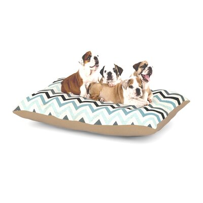 Heidi Jennings Blue Chevron Dog Pillow with Fleece Cozy Top Size: Small (40 W x 30 D x 8 H)