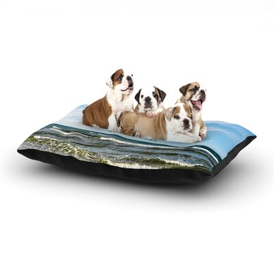 Iris Lehnhardt Imagine Beach Sky Dog Pillow with Fleece Cozy Top Size: Large (50 W x 40 D x 8 H)