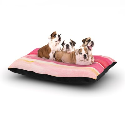 Iris Lehnhardt Colour Play Dog Pillow with Fleece Cozy Top Size: Small (40 W x 30 D x 8 H)