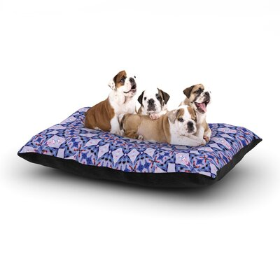 Iris Lehnhardt Kaleidoscope Blue Circle Dog Pillow with Fleece Cozy Top Size: Large (50 W x 40 D x 8 H)