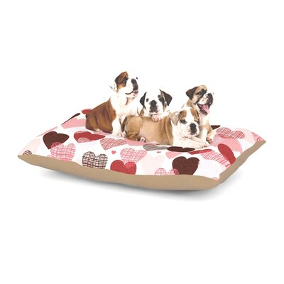 Heidi Jennings Love Dog Pillow with Fleece Cozy Top Size: Large (50 W x 40 D x 8 H)