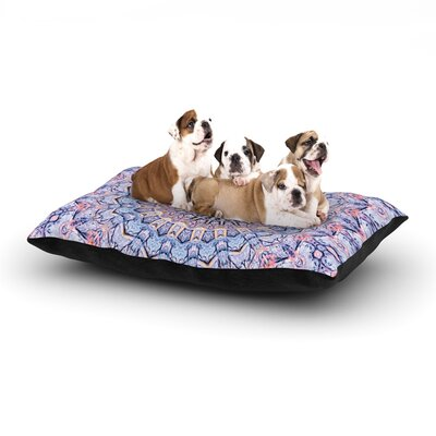 Iris Lehnhardt Summer Lace II Circle Dog Pillow with Fleece Cozy Top Size: Small (40 W x 30 D x 8 H)