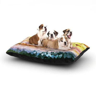 Iris Lehnhardt Turaluraluraluuu Pixel Dog Pillow with Fleece Cozy Top Size: Large (50 W x 40 D x 8 H)