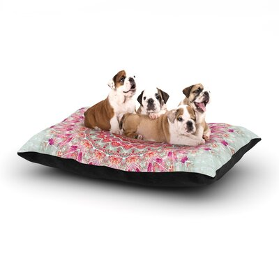 Iris Lehnhardt Summer Lace III Circle Dog Pillow with Fleece Cozy Top Size: Large (50 W x 40 D x 8 H)