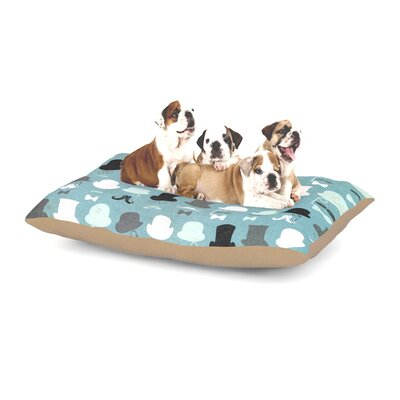 Heidi Jennings Hats Off to You Dog Pillow with Fleece Cozy Top Size: Small (40 W x 30 D x 8 H)