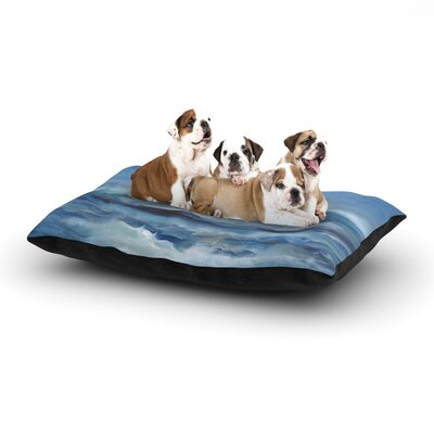 Iris Lehnhardt Rough Sea Ocean Dog Pillow with Fleece Cozy Top Size: Large (50 W x 40 D x 8 H)