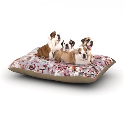 Iris Lehnhardt 'Flowering Plum Tree' Blossoms Dog Pillow with Fleece Cozy Top Size: Large (50
