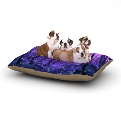 Iris Lehnhardt Magic Woods Forest Dog Pillow with Fleece Cozy Top Size: Small (40 W x 30 D x 8 H)