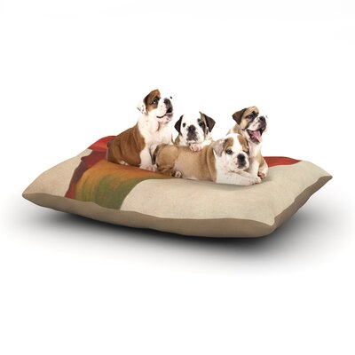 Iris Lehnhardt Calla Flower Dog Pillow with Fleece Cozy Top Size: Large (50 W x 40 D x 8 H)