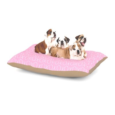 Heidi Jennings Hugs & Kisses Dog Pillow with Fleece Cozy Top Size: Large (50 W x 40 D x 8 H)