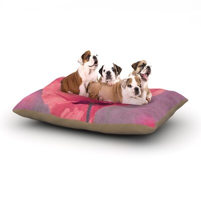 Iris Lehnhardt Poppy Flower Dog Pillow with Fleece Cozy Top Size: Large (50 W x 40 D x 8 H)