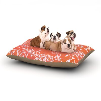 Iris Lehnhardt Twigs Silhouette Dog Pillow with Fleece Cozy Top Size: Large (50 W x 40 D x 8 H), Color: Coral/Orange