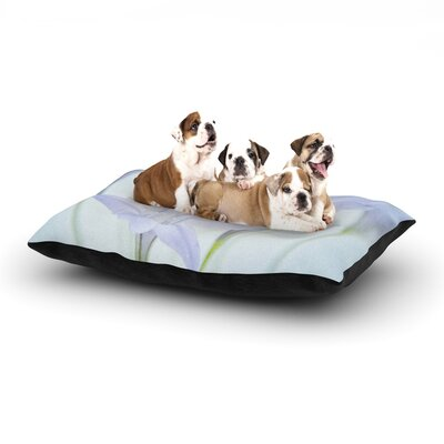 Iris Lehnhardt Triplet Lily Flower Dog Pillow with Fleece Cozy Top Size: Small (40 W x 30 D x 8 H)