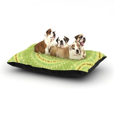 Iris Lehnhardt Wheel of Spring Circle Dog Pillow with Fleece Cozy Top Size: Large (50 W x 40 D x 8 H)