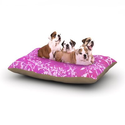 Iris Lehnhardt Twigs Silhouette Dog Pillow with Fleece Cozy Top Size: Small (40 W x 30 D x 8 H), Color: Pink
